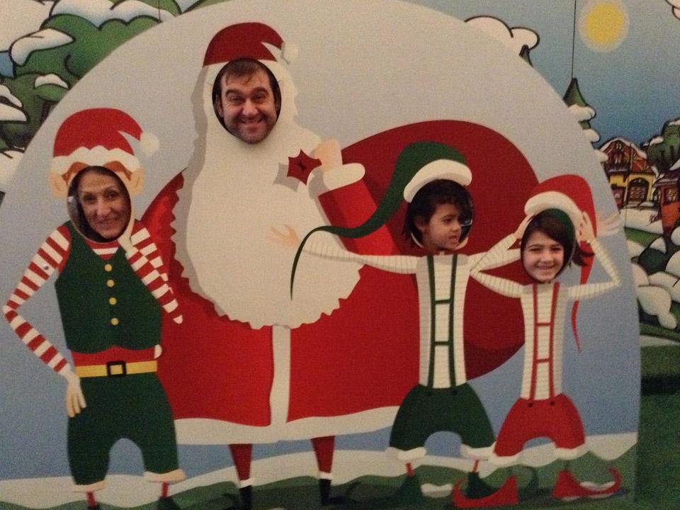Χριστουγεννιάτικο σκηνικό φωτογράφησης